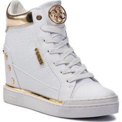 Sneakersy GUESS - FL5FN LFAL12 WHITE. Białe sneakersy damskie Guess, z materiału. Za 599,00 zł.