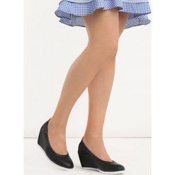 Buty ślubne damskie: Czarne Koturny Peicel