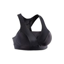 Stanik fitness kardio 900. Czarne biustonosze sportowe marki DOMYOS, z elastanu. Za 79,99 zł.
