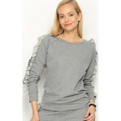 Szara Bluza Fancy Sleeves. Szare długie bluzy damskie Born2be, uniwersalny, z długim rękawem. Za 69,99 zł.