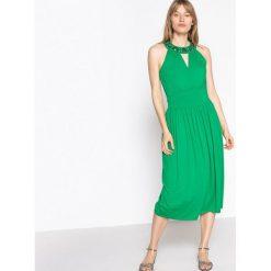 Sukienki: Dzianinowa sukienka z ozdobnym dekoltem