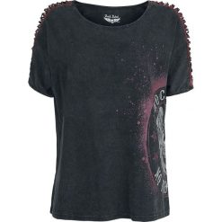 Rock Rebel by EMP Take It Easy Koszulka damska czarny. Czarne bluzki nietoperze Rock Rebel by EMP, xl, z nadrukiem, z dekoltem w łódkę. Za 144,90 zł.