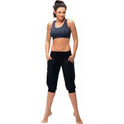 Gwinner Spodnie LOOSE SPORT CAPRI Nair czarne r. XL. Czarne spodnie sportowe damskie marki Gwinner, xl. Za 87,80 zł.