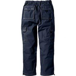 Spodnie bojówki Loose Fit Straight bonprix ciemnoniebieski. Niebieskie bojówki męskie marki bonprix, w paski. Za 79,99 zł.