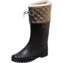 Buty zimowe damskie: Aigle POLKA GIBOULÉE Kalosze marine/beige