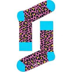 Happy Socks - Skarpetki Leopard. Szare skarpetki damskie Happy Socks, z bawełny. W wyprzedaży za 29,90 zł.