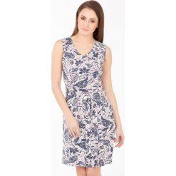 Odzież damska: Wzorzysta sukienka bez rękawów