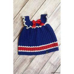 Śliczna granatowa sukieneczka. Czerwone sukienki niemowlęce marki Pakamera, z dzianiny. Za 109,00 zł.
