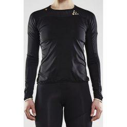 Koszulka CRAFT Run Shade LS czarna. Czarne topy sportowe damskie marki Astratex, z mikrofibry, z dekoltem na plecach. Za 185,99 zł.