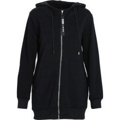 Czarna Bluza Multifariousness. Czarne bluzy rozpinane damskie marki Born2be, l, z dresówki, z długim rękawem, długie, z kapturem. Za 89,99 zł.