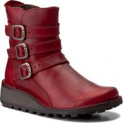 Botki FLY LONDON - Myso P210847003 Red. Czerwone botki damskie na obcasie marki QUECHUA, z gumy. W wyprzedaży za 349,00 zł.