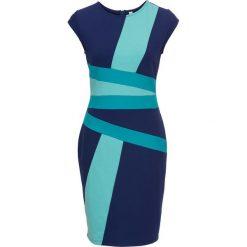 """Sukienki: Sukienka bonprix niebiesko-niebieski """"bleached"""" w paski"""