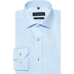 Koszula SIMONE KDWS000359. Niebieskie koszule męskie na spinki Giacomo Conti, m, z bawełny, z klasycznym kołnierzykiem, z długim rękawem. Za 199,00 zł.