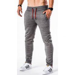 SPODNIE MĘSKIE DRESOWE P550 - GRAFITOWE. Szare spodnie dresowe męskie Ombre Clothing, z bawełny. Za 54,00 zł.