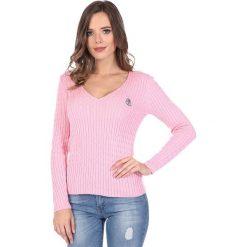 """Swetry klasyczne damskie: Sweter """"Deuce"""" w kolorze jasnoróżowym"""
