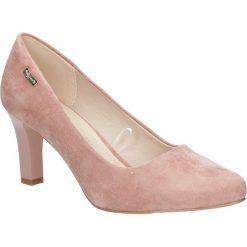 Różowe czółenka ślubne na słupku Sergio Leone 1459. Czarne buty ślubne damskie marki Sergio Leone. Za 108,99 zł.