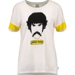 Wrangler by Peter Max MAX HEAD Tshirt z nadrukiem offwhite. Białe koszulki polo Wrangler by Peter Max, m, z nadrukiem, z bawełny. Za 249,00 zł.