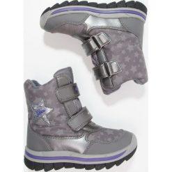 Geox OVERLAND ABX Śniegowce dark silver/violet. Szare buty zimowe damskie Geox, z gumy. W wyprzedaży za 351,20 zł.