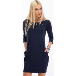 Sukienki: Granatowa Minimalistyczna Sukienka 9988