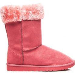 Buty zimowe damskie: Mukluki śniegowce ciepłe za kostkę Różowe