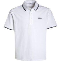 BOSS Kidswear MANCHES COURTES Koszulka polo blanc. Niebieskie t-shirty chłopięce marki BOSS Kidswear, z bawełny. Za 209,00 zł.