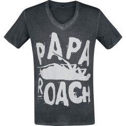 Papa Roach Logo - V-Neck T-Shirt ciemnoszary. Szare t-shirty męskie Papa Roach, xxl. Za 94,90 zł.