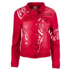 Desigual Kurtka Damska Coke 34 Czerwony. Czerwone kurtki damskie marki Desigual, z napisami. Za 549,00 zł.