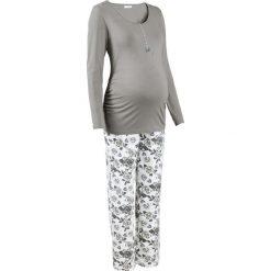 Bielizna nocna: Piżama do karmienia piersią (2 części) bonprix szary z nadrukiem