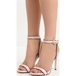 Różowe Sandały Stinger. Czerwone sandały damskie Born2be, z lakierowanej skóry, na wysokim obcasie, na obcasie. Za 49,99 zł.