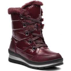 Śniegowce CAPRICE - 9-26221-21 Bordeaux Comb 551. Czerwone buty zimowe damskie Caprice, z materiału. W wyprzedaży za 219,00 zł.