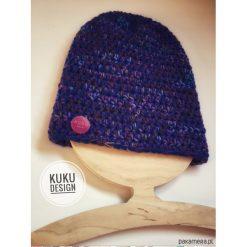 Czapka niebiesko fioletowa. Fioletowe czapki zimowe damskie Pakamera. Za 99,00 zł.