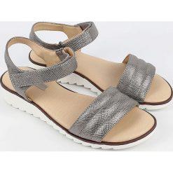 Sandały damskie: Sandały w kolorze szaro-srebrnym