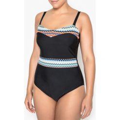 Stroje jednoczęściowe: Jednoczęściowy kostium kąpielowy typu bustier, efekt płaskiego brzucha