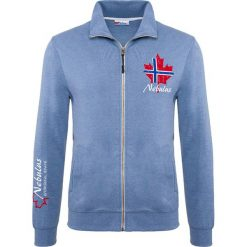 """Golfy męskie: Sweter rozpinany """"Visby"""" w kolorze błękitnym"""