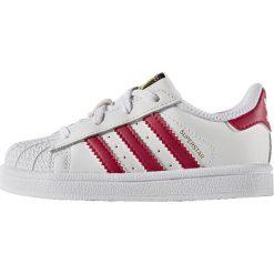 Adidas Originals SUPERSTAR  Tenisówki i Trampki footwear white/bold pink. Białe trampki dziewczęce adidas Originals, z materiału. W wyprzedaży za 194,65 zł.