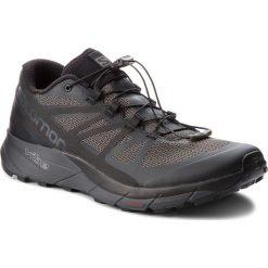 Buty SALOMON - Sense Ride 404849  31 V0  Black/Black/Magnet. Szare buty do biegania męskie marki Salomon, z gore-texu, na sznurówki, gore-tex. W wyprzedaży za 419,00 zł.