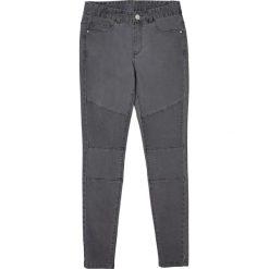 Dżinsy rurki w stylu motorowym 10-16 lat. Szare spodnie chłopięce La Redoute Collections, z bawełny, z standardowym stanem. Za 126,38 zł.