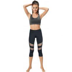 Spodnie dresowe damskie: Gwinner Leginsy Slimming Capri With Mesh Panels Model 2 CLIMAline czarne r. L