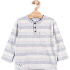 Koszulka. Szare t-shirty chłopięce z długim rękawem KNIGHT, z bawełny. Za 19,90 zł.