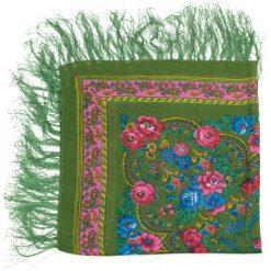 Chusty damskie: Art of Polo Chusta damska Ludowe inspiracje zielona