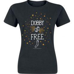 Bluzki asymetryczne: Harry Potter Dobby Is Free Koszulka damska czarny