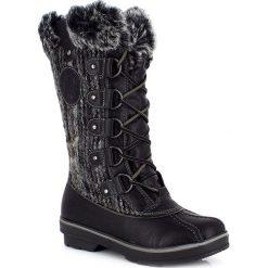 """Buty zimowe damskie: Kozaki """"Nina"""" w kolorze czarnym"""
