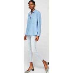Mango - Koszula Classic. Szare koszule jeansowe damskie marki Mango, l, klasyczne, z klasycznym kołnierzykiem, z długim rękawem. Za 139,90 zł.
