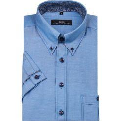 Koszula SERGIO 16-04-26-K. Niebieskie koszule męskie na spinki Giacomo Conti, m, z tkaniny, z krótkim rękawem. Za 129,00 zł.