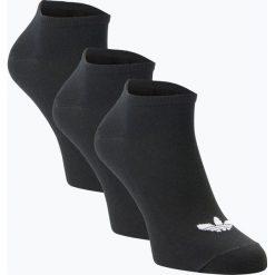 Adidas Originals - Damskie skarpety do obuwia sportowego pakowane po 3 szt., czarny. Czarne skarpetki damskie adidas Originals. Za 59,95 zł.