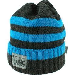 Czapka zimowa CZ 036D niebiesko-grafitowa r. 50-54. Niebieskie czapeczki niemowlęce Proman, na zimę. Za 41,99 zł.