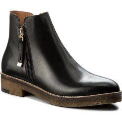 Botki EVA MINGE - Bernardita 2K 17SM1372219EF 101. Czarne buty zimowe damskie marki Eva Minge, ze skóry. W wyprzedaży za 259,00 zł.