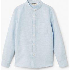 Mango Kids - Koszula dziecięca Albert 104-164 cm. Szare koszule chłopięce z długim rękawem marki S.Oliver, l, z bawełny, z włoskim kołnierzykiem. W wyprzedaży za 39,90 zł.