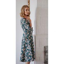 Sukienki hiszpanki: Sukienka Kaja turkusowa kwiecista 32