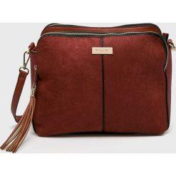 Medicine - Torebka Hand Made. Brązowe torebki klasyczne damskie MEDICINE, w paski, z materiału, średnie. Za 129,90 zł.